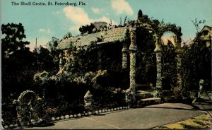 St Petersburg Florida~Shell Grotto on a Partly Cloudy Day~c1910 Postcard