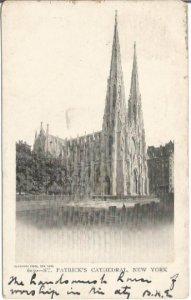 Saint Patrick's Cathedral New York UDBPC Undivided Back Postcard 1905 Vintage