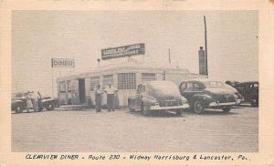 Midway Harrisburg & Lancaster PA Clearview Diner Postcard