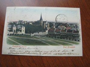 South Africa Postcard Cape of Good Hope 1904 Used UDB Church Port Elizabeth