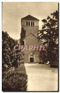 Old Postcard Pierreclos S and L Chapel of Romanesque Chateau
