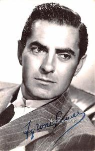 Tyrone Powell Movie Star Actor Actress Film Star Postcard, Old Vintage Antiqu...