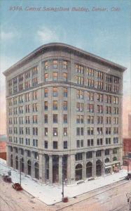 Central Savings Bank Building Denver Colorado