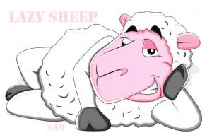 Limited Edition Postcard, Introducing Our New Lazy Sheep Cards, Meet Sam 75F