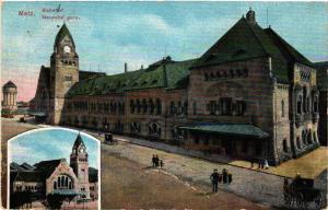 CPA AK METZ Bahnhof - Nouvelle gare (454862)