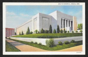Outside View Joslyn Memorial Omaha Nebraska Unused c1933