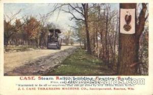 Steam Roller Farming, Farm, Farmer, Postcard Postcards J.I. Case Threshing Ma...