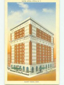 Unused Linen UTICA HOTEL Utica New York NY hr8317-12
