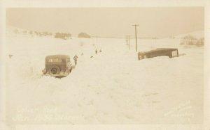RP: EBENSBURG , Pennsylvania , 1930s ; Snow Storm