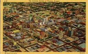 AZ - Phoenix. Aerial View of Business Section