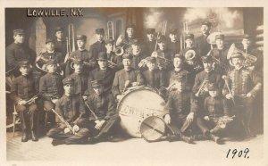 LP16 Lowville New York Band Vintage Postcard RPPC