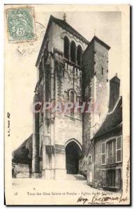 Old Postcard Tour Des Saints And Big Porch Church Of St Aignan