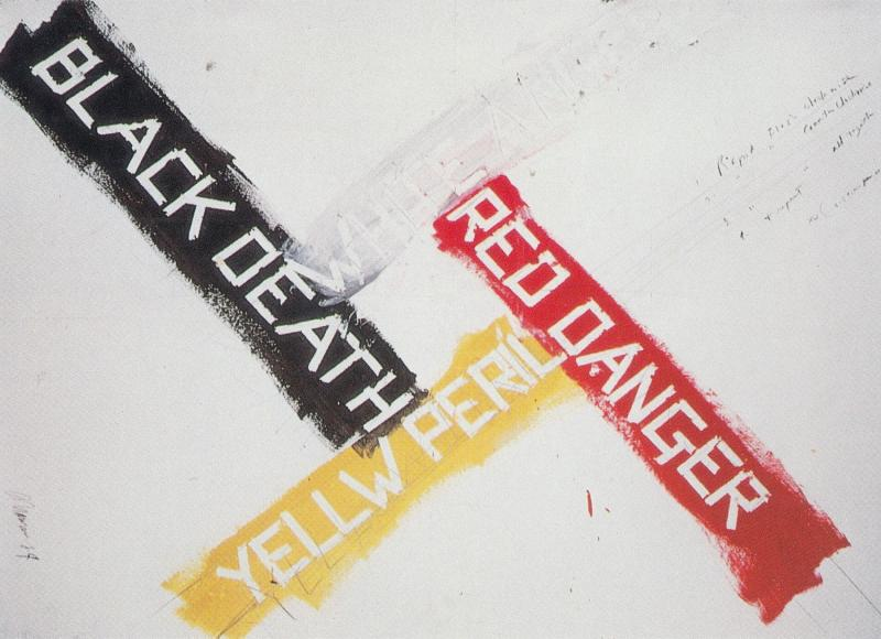 The Black Death Yellow Danger Painting Postcard