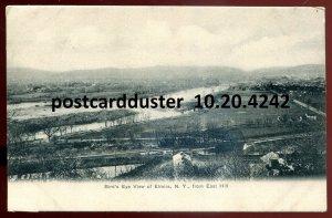 4242 - ELMIRA NY Postcard 1900s Birds Eye View