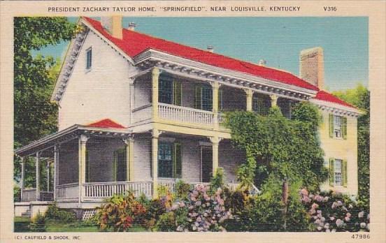 Kentucky Louisville President Zachary Taylor Home Springfield