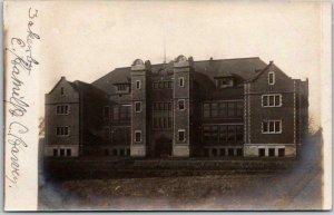 1910s Bloomington, Illinois RPPC Photo Postcard EMERSON SCHOOL Building View