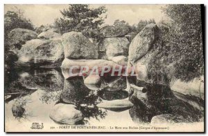Old Postcard Foret De Fontainebleau La Mare aux Biches Gorges d & # 39Apremont