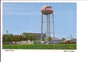 Water Tower, Plains, Georgia, Painted for Bicentennial 1976
