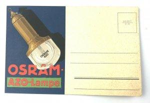 OSRAM AZO-LAMPS - VINTAGE ADVERTISING POSTCARD PC ART