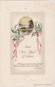 Couple at river side, Best New Year Wishes, Poem by Frank Vernon, PU