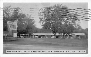 Walton Kentucky~Holiday Motel~Roadside Route 2~Carl Bley Owner~1950s Cars~B&W PC