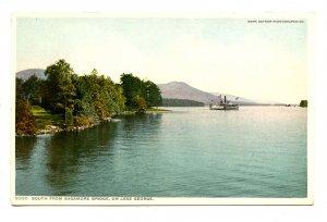 NY - Lake George. View South from Sagamore Bridge
