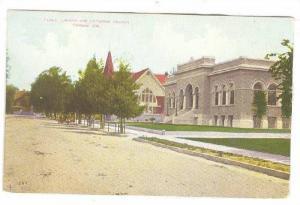 Street view , Library & Unitarian Church , POMONA , California , 00-10s