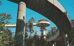 Observation Tower On Clingmans Dome Great Smoky Mountains National Park Tenne...