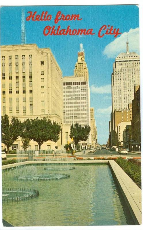 USA, Park Avenue, Oklahoma City, unused Postcard