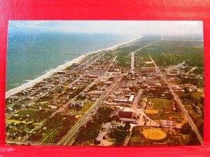 Postcard SC Myrtle Beach Vintage Aerial View Looking South