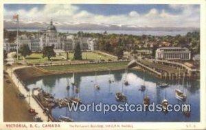 Parliament Buildings, CPR Building Victoria British Columbia, Canada 1957