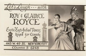 RP : NEW YORK CITY, 40-50s ; Roy & Gladyce Royce Exotic East-Indian Dances & C