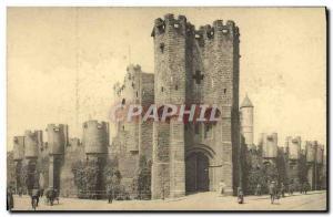 Old Postcard Ghent gravensteen General view taken from the place Ste Pharaïlde