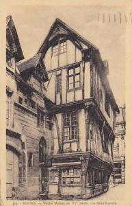 France Rouen Vieille Maison du XV siecle rue Saint Roman 1939