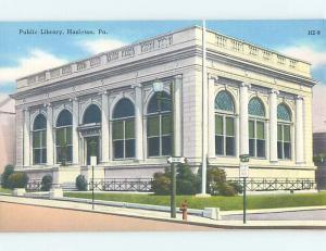 Postcard Of Painting At Library Of Congress Hazleton Pennsylvania PA hs2225