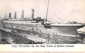 Steamer Titanic Ship In the Ship Yard, Belfast Ireland Unused light crease ri...