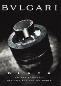 Advertising BVLGARI Black The New Fragrance For Men and Women