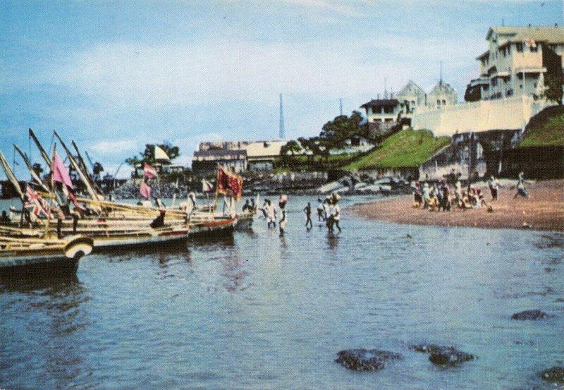 Vintage Postcard, Bullom Sailing Boats, Freetown, Sierra Leone, Africa 82W