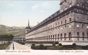 Monasterio del Escorial, Visto dese los Jardines, Madrid, Spain, 00-10s