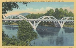 GRANTS PASS, Oregon, 1930-40s; Cave Man's Bridge over Rogue River