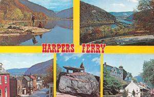 Harpers Ferry, Multiviews, Potomac River, Jefferson's Rock, Church