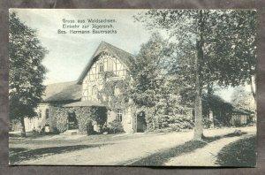 dc692 - WALDSACHSEN Germany 1917 Restaurant H. Bauersachs Postcard