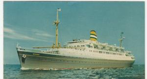 Shipping; Holland America Line SS Ryndam PPC, Unposted, c 1960's
