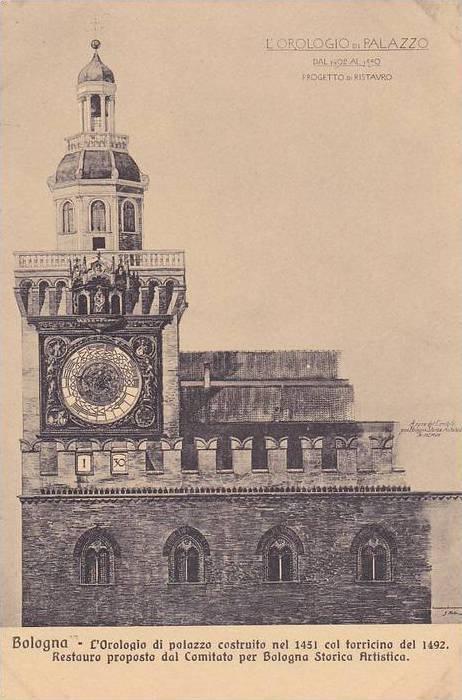 L'Orologio Di Palazzo Costruito Nel 1451 Col Torricino Del 1492, Bologna (Emi...