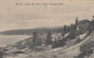 HARBOR SPRINGS , Michigan, 1900-10s ; Along the shore