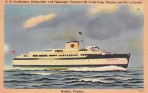 S. S. Pocahontas Ferry, NORFOLK, Virginia, 30-40s