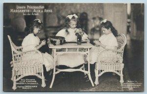 Postcard Princesses Margarete Alix & Anna Saxony Germany Real Photo RPPC T6