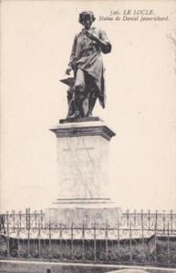 Switzerland Le Locle Statue de Daniel Jeanrichard