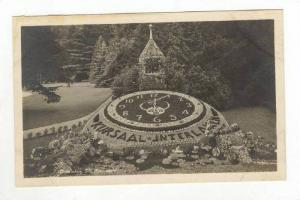 RP: Landscaped Clock in Park,Interlaken ,Switzerland 1910-20s