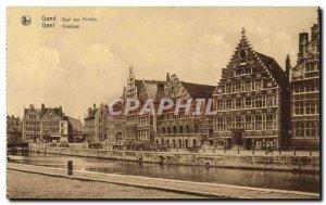 Old Postcard Ghent Quai aux Herbes